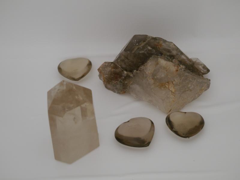 quartz fume pierre